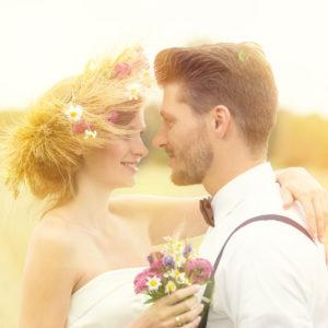 Romantisches Brautpaar